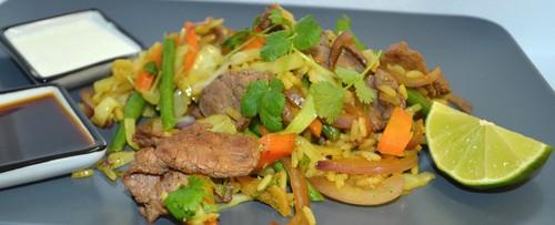 Nasi goreng med älgkött