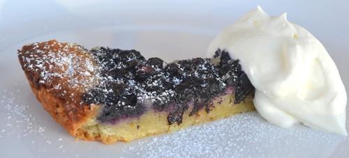 Mazarinkaka med blåbär