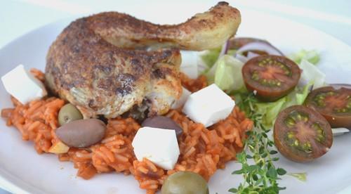 Vinnarvinet med grillad kyckling, tomat och chiliris!