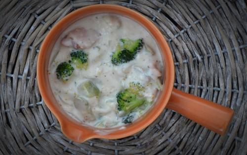 Pastasås med kassler, broccoli och spenat!