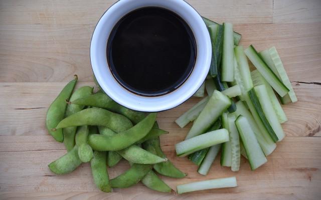 Asiatisk grönsaksdipp