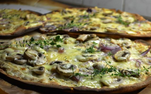 Pizza bianco på Libabröd
