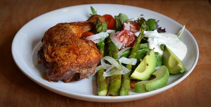 grillad kyckling sparris