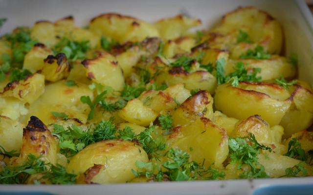 Restpotatisrätt, smashad potatis!