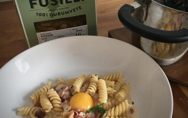 Pasta Carbonara, snabbmat när den är som bäst!