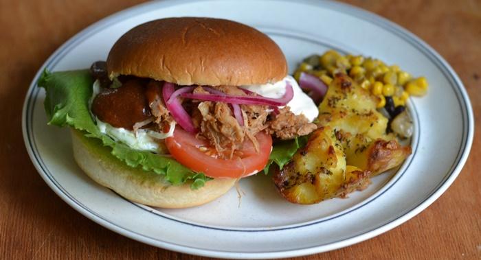 pulledpork burger