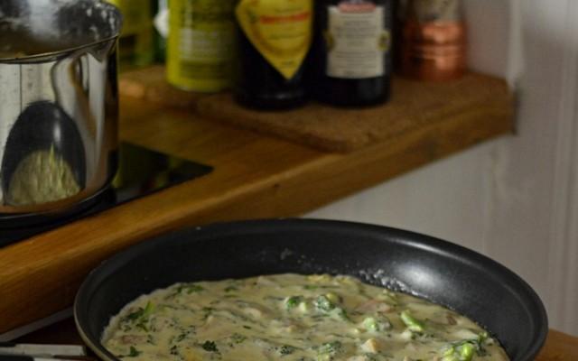 Skink och broccolisås till pasta
