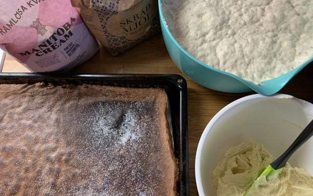 Drömrulltårta med smörkräm, glutenfri