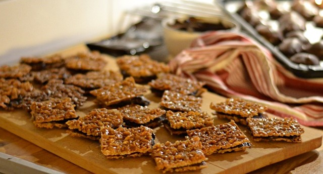 Havrerutor med chokladkräm