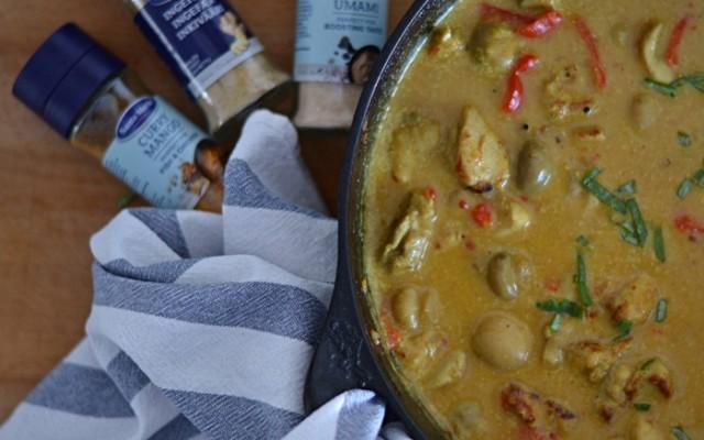 Kycklinggryta med svamp och curry